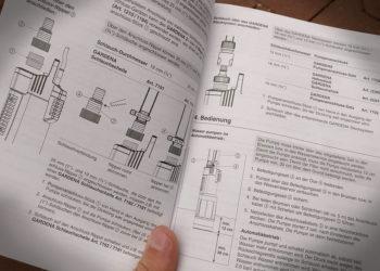 Gardena Tauchdruckpumpe 6000/5 - Anleitung
